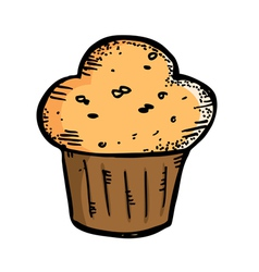 cupcake muffin vector image vector image