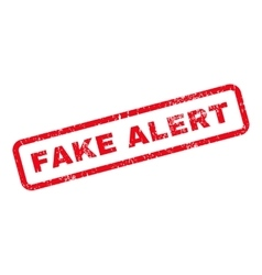 Fake alert text rubber stamp vector