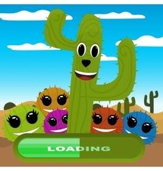 gaming locations funny logic cactus desert vector image