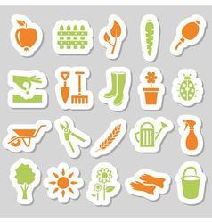 Garden stickers vector