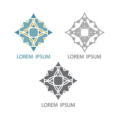 geometric symbol or ornament flower or religious vector image vector image