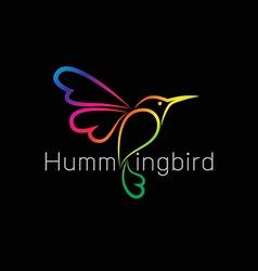 Image of an hummingbird design vector
