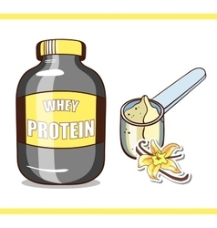 Jar with vanilla protein vector
