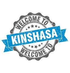 Kinshasa round ribbon seal vector