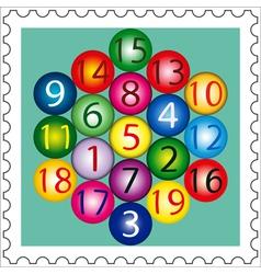 Magic Hexagon Stamp vector image