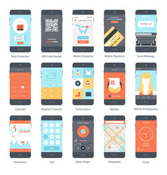 mobile ui set vector image vector image