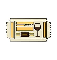 restaurant ticket icon vector image