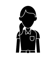 Silhouette woman paramedic worker hospital vector