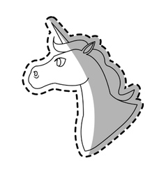 unicorn cartoon icon vector image