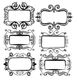 Vintage artistic frames for designs vector image vector image
