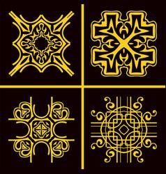 Vintage logos set vector