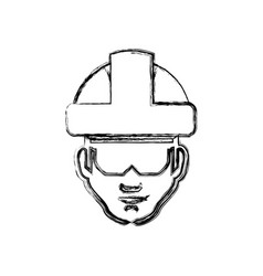 Worker man head vector