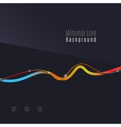 Abstract background Wavy colorful swirly line on vector image