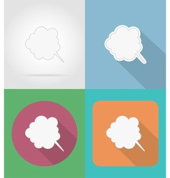 speech bubbles flat icons 07 vector image