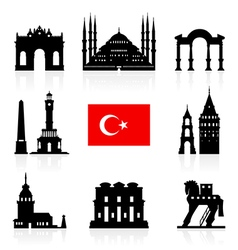 Turkey Travel Landmarks Icon vector image