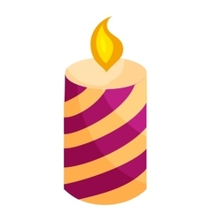 Festive candle icon cartoon style vector