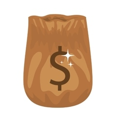 Silhouette of bag opened with money vector