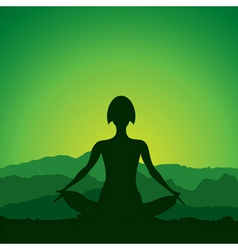 Yoga women figure vector