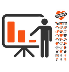 crisis reporting person icon with dating bonus vector image