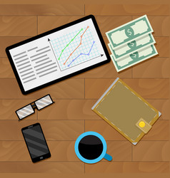 Infographic financial document vector