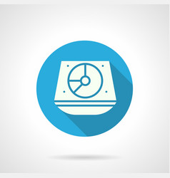 music dj equipment blue round icon vector image