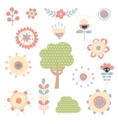 pretty floral garden clipart vector image