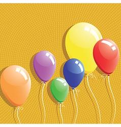 Balloon background birthday card vector