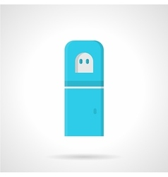Blue water purifier flat icon vector