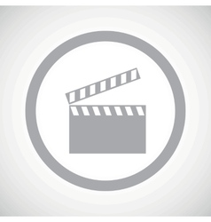 Grey clapperboard sign icon vector
