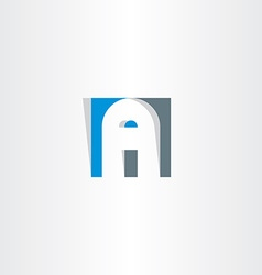 Letter a in square logo a vector