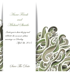 Curly military invitation pattern for your vector
