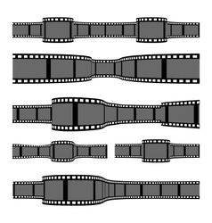Film strip banners vector