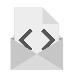 email isolated icon design vector image