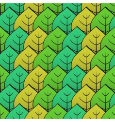 abstract background with green leaf vector image vector image