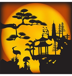 Asian landscape2 vector image