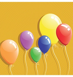 Balloon background birthday card vector image vector image