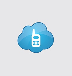 Blue cloud radio icon vector image vector image