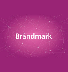 brandmark white text with vector image