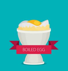breakfast soft boiled egg vector image vector image