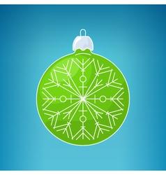 Christmas blue ball with snowflakemerry christmas vector
