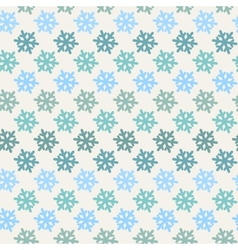 Color abstract snowflake pattern vector image vector image
