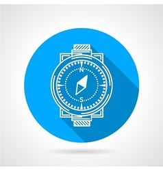 Compass round icon vector image