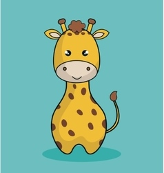 cute giraffe stuffed icon vector image