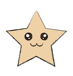 cute star cartoon vector image
