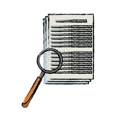 Document magnifier tool office work vector