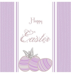 Easter background with eggs vintage pink vector image vector image
