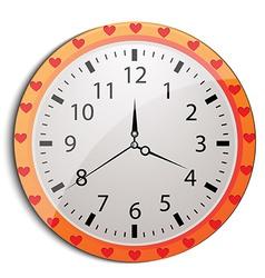 funny cartoon clock for kids vector image vector image