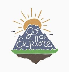 Go explore symbol vector image