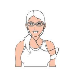 Gril sport cartoon vector