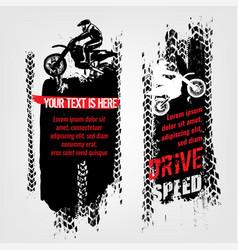 Grunge motorcross banners vector